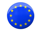 Button with EU flag isolated on background — Stock Photo