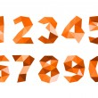 Stock Photo: Orange crumpled numerals isolated on white background