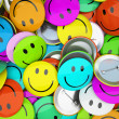 Buttons with colorfull smiles — Stock Photo