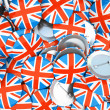 Buttons with England flag - Stock Photo