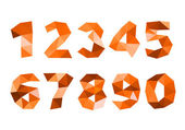 Orange crumpled numerals isolated on white background — Stock Photo