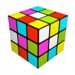 Puzzle cube isolated on white background — Stock Photo