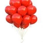 czerwone balony — Zdjęcie stockowe