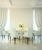 Dining room in classic style — Stock Photo