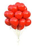 Red balloons — Stock Photo