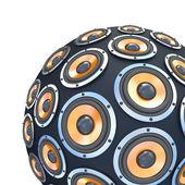 Haut-parleurs en forme de sphère de partie isolée — Photo
