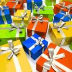 Colour gift boxes — Stock Photo #2611776
