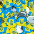 Buttons with Ukraine flag — Stock Photo