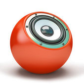 Red sphere speaker — Stock Photo