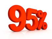 Ninety five percent simbol on white background — Stock Photo