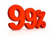 Ninety nine percent simbol on white background — Stock Photo