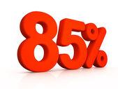 Eighty five percent simbol on white background — Foto de Stock