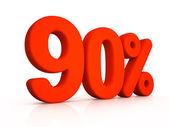Ninety percent simbol on white background — Foto de Stock
