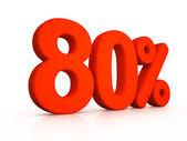 Eighty percent simbol on white background — Foto de Stock