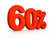Sixty percent simbol on white background — Stock Photo
