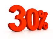Thirty percent simbol on white background — Foto de Stock