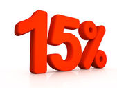 Fifteen percent simbol on white background — Foto de Stock