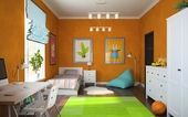 Part of interior modern childroom — Stockfoto