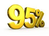 Ninety five percent symbol on white background — Stock Photo