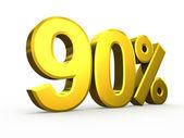 Ninety percent symbol on white background — Stock Photo