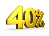 Forty percent symbol on white background — Stock Photo