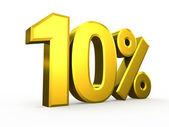 Ten percent symbol on white background — Stock Photo