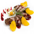 Lamb with fruit and berry sauce — Stock Photo #19665313