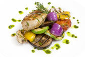 Grilled chicken meat — Stock Photo