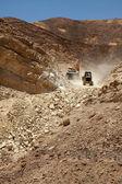 Excavator and tractor — Stock Photo