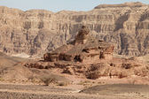 Timna Valley, screw up the hill — Stock Photo