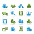 Social Media and Network icons — Stock Vector #11683905