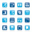 Sport objects icons - Stock Vector