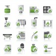 Household Gas Appliances icons — Stock Vector #12050193
