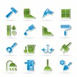 Construction and building equipment Icons - Stockvectorbeeld