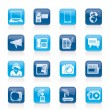 Communication and Technology icons - Stock Vector