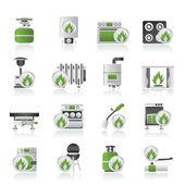 Icônes des appareils domestiques gaz — Vecteur
