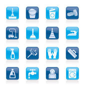 Cleaning and hygiene icons — Vector de stock
