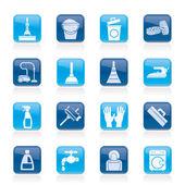 Iconos de limpieza e higiene — Vector de stock