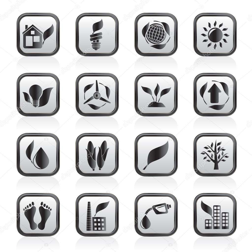 Environment and nature icons - vector icon set  Stock Vector #12239601