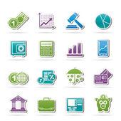 ícones de negócios e finanças — Vetorial Stock