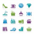 Shopping and mall icons - Stock Vector