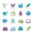 Stock Vector: Graphic and web design icons