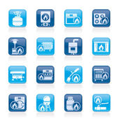Household Gas Appliances icons — Vector de stock