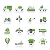 Different kind of transportation icons — Stock Vector