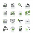 Employment and jobs icons — Stock Vector #12577130