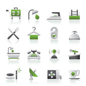 Hotel and motel icons — Stock Vector
