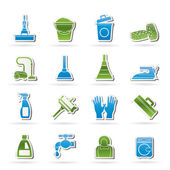 Rengöring och hygien ikoner — Stockvektor