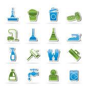 úklid a hygiena ikony — Stock vektor