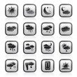 Weather and meteorology icons - Stockvektor