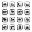Weather and meteorology icons — Stock Vector